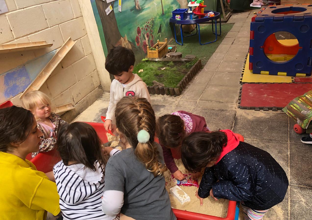 garden sand play activities
