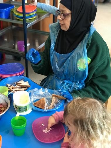 Sutherland Nursery snack time
