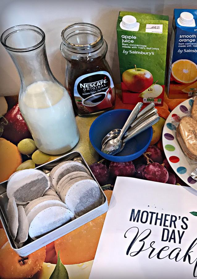 breakfast for Sutherland Nursery mothers
