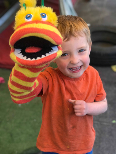 puppets help us develop our language skills