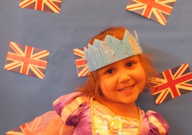 a little princess during royal wedding celebrations