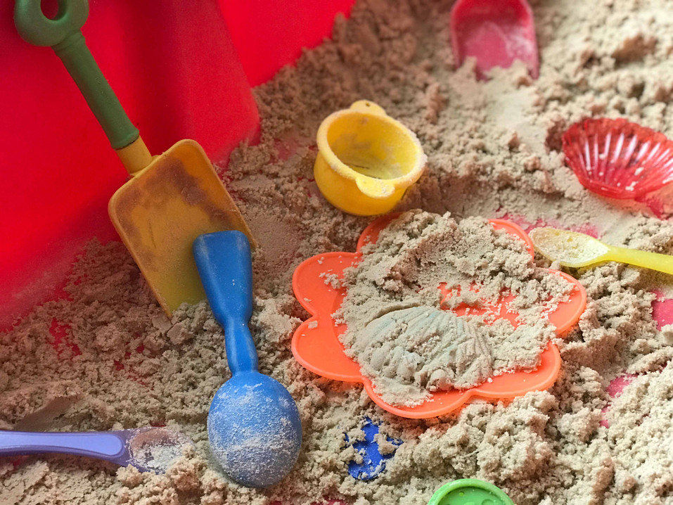 building different shape sand castles