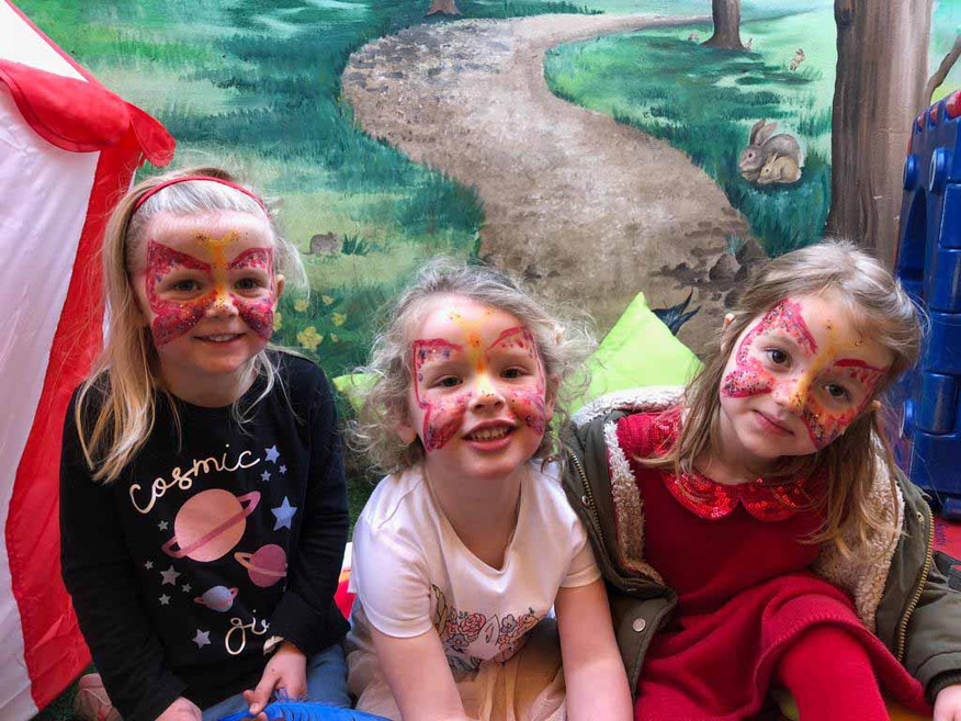 face painting in the garden