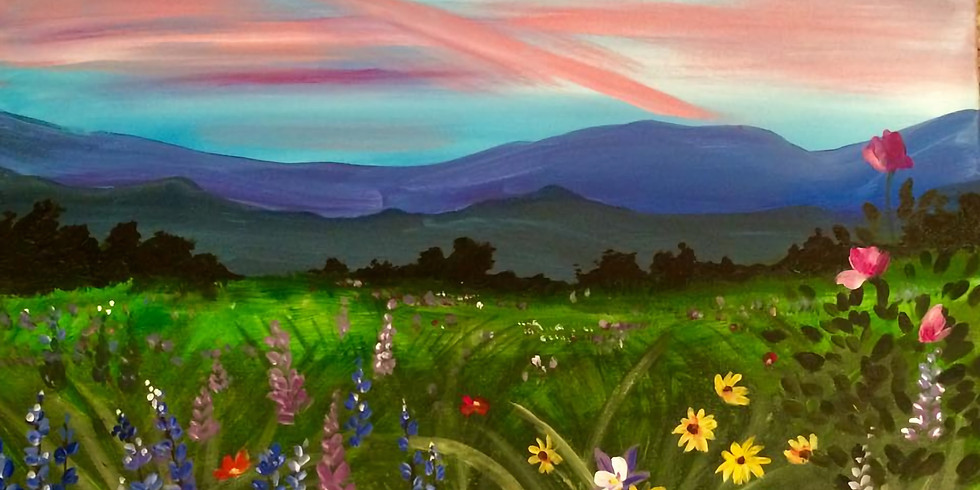 Private Field of Wildflowers Paint Party