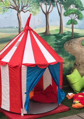 tent time outdoors in a wigwam with soft play