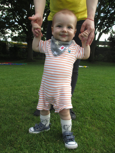 learning to walk at Sutherland Nursery
