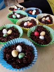 Easter cakes decorated by children