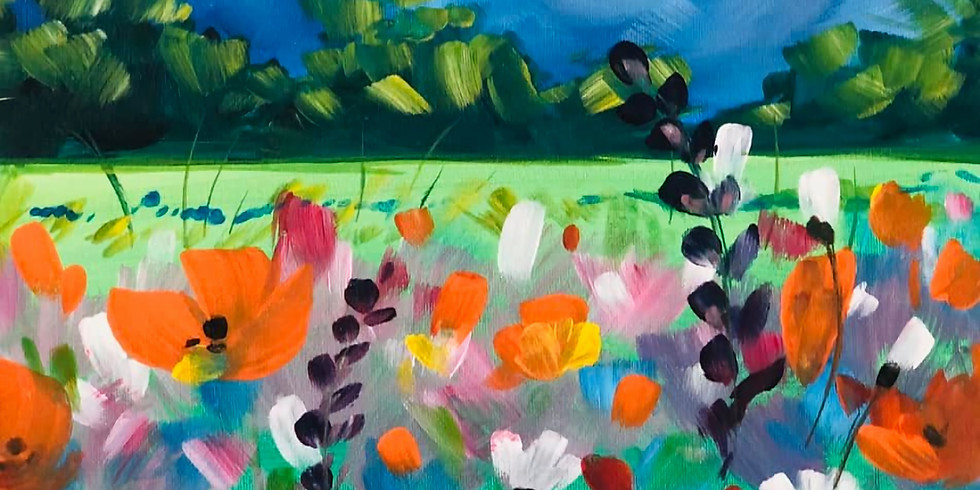 CA Poppies Virtual Paint Party