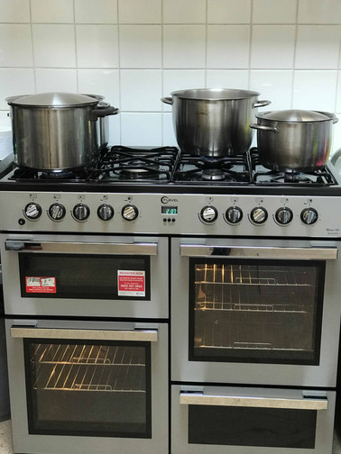 professional kitchen facilities for freshly daily meals