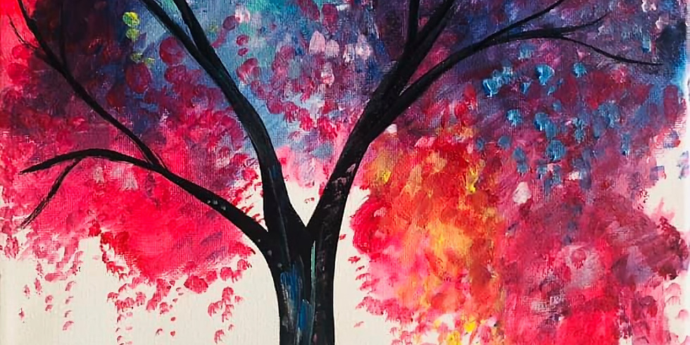 (Private) Colorful Tree Virtual Paint Party