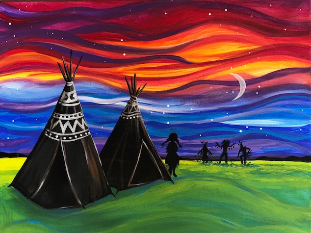 TEEPEES BY SUNSET