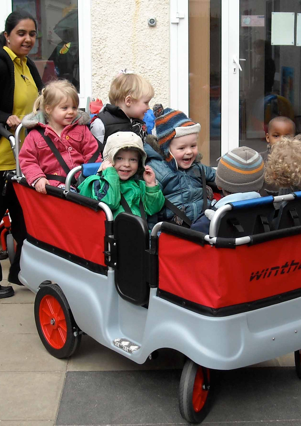 childcare full of adventures and outings in the kiddy bus