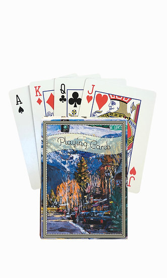 Whitefish Playing Cards - custom box