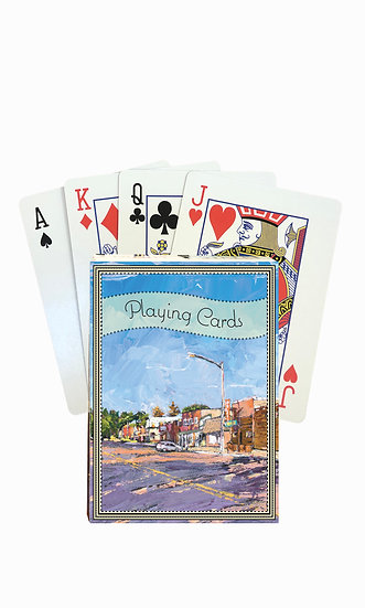 Fort Benton Playing Cards - custom box