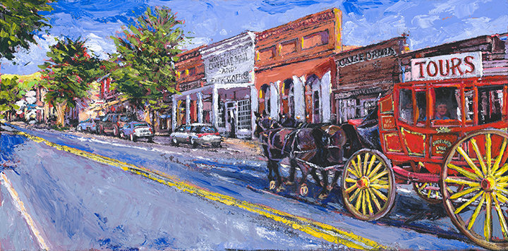 Virginia City giclee print