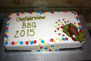 Ourfairview BBQ cake 2015