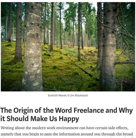 The Origin of the Word Freelance
