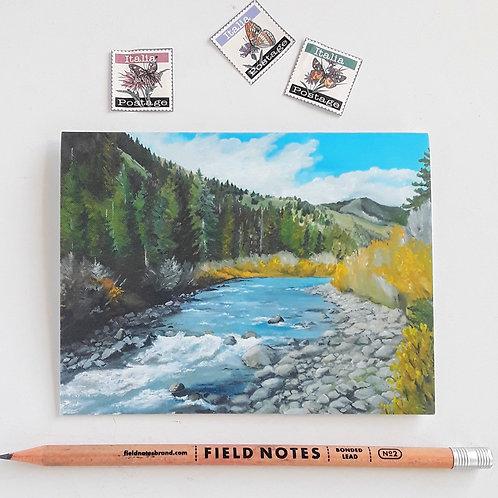 Mountain Stream Blank Card