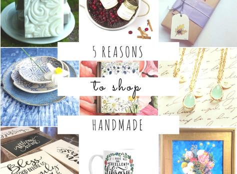 Share the Love - 5 Reasons to Shop Handmade This Holiday Season