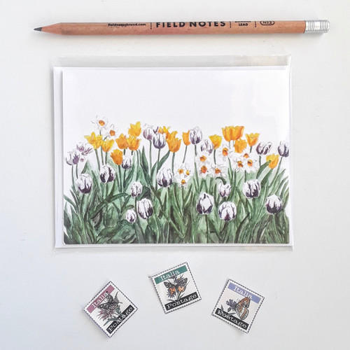 Watercolor greeting cards anne hockenberry birds and berry studio tulip card blanks card with white envelopes m4hsunfo