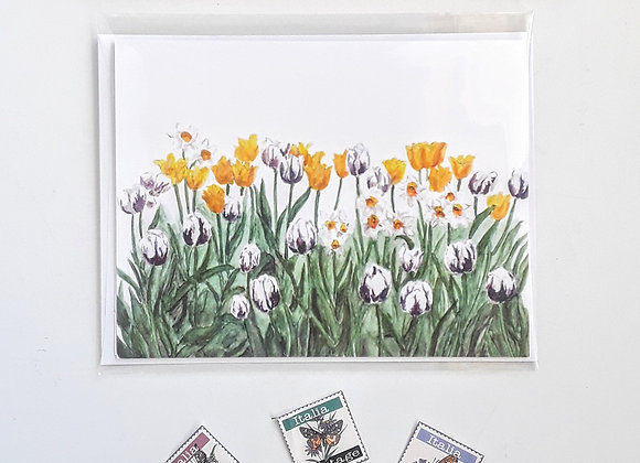 Tulip Card, Blanks Card with White Envelopes