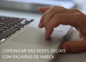 Comunicar nas redes sociais com palavras de marca