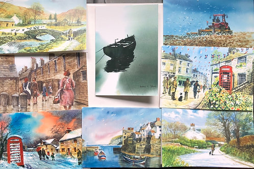 Assorted pack of 4 cards