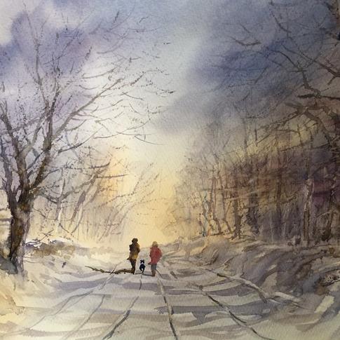 winters woodland