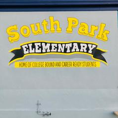 South Park Elementary School Playground Logo Mural McBride Arts