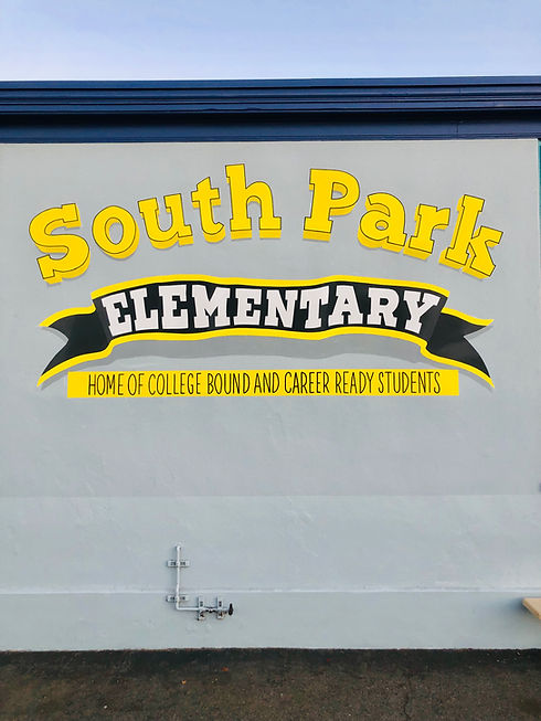 South Park Elementary Playground Mural M