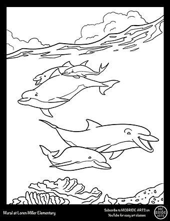 Loren Miller Dolphin Mural Coloring Book