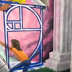Bethune School STEAM Math Mural Golden M