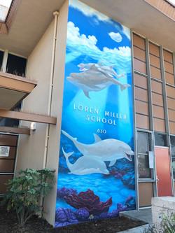 Loren Miller Elementary Dolphin Entrance