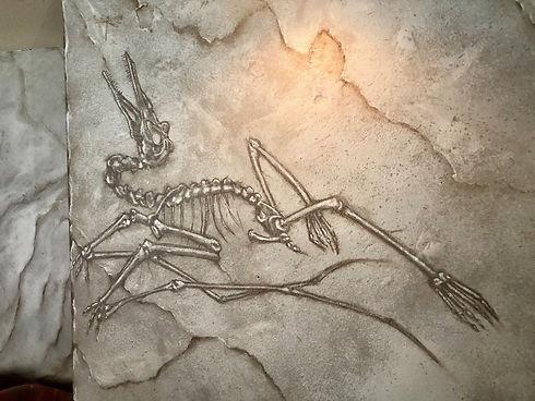 Faux Slate Fossil Mural.JPG