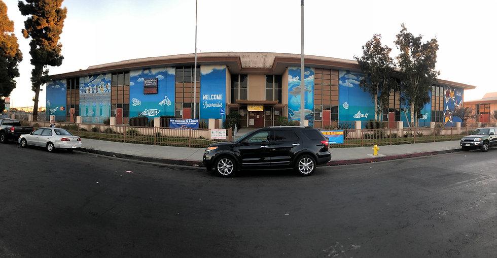 Loren Miller School Building Mural McBri