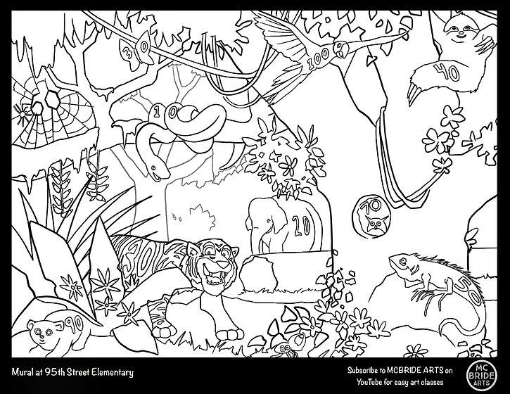 95th St School Tiger Jungle Handball Mural Coloring Book McBride Arts.jpg