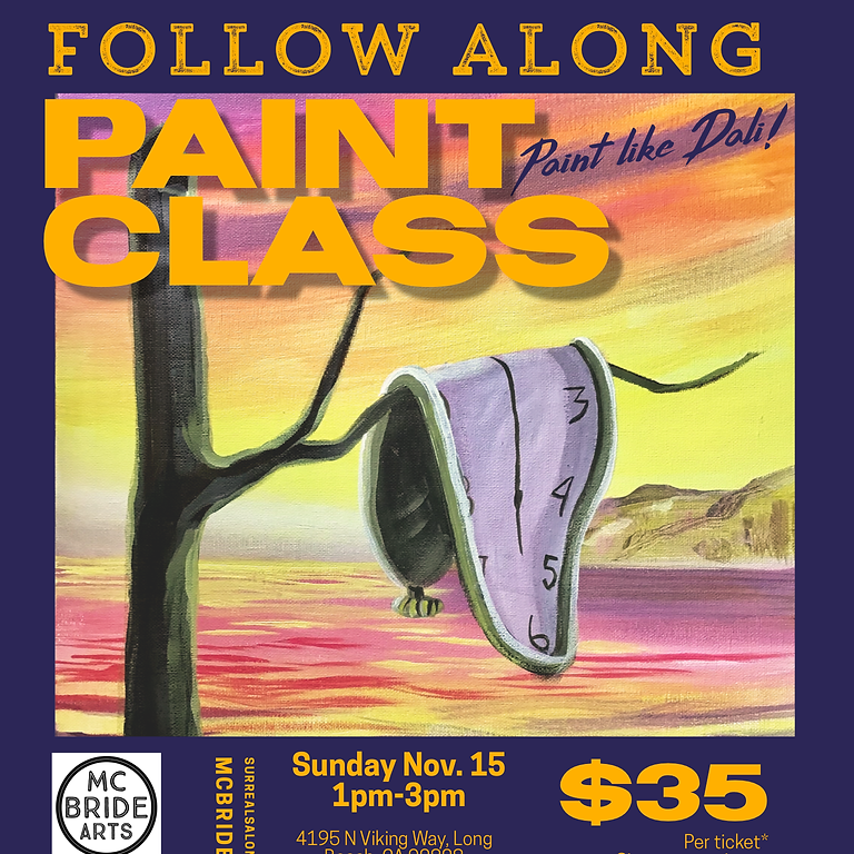 Dali inspired Paint-Along at Surreal Salon and Gallery