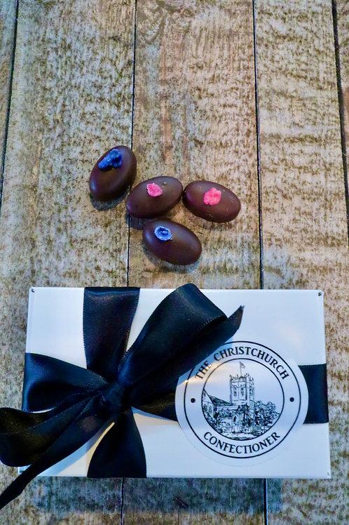 Dark Chocolate Rose & Violet Fondant Creams