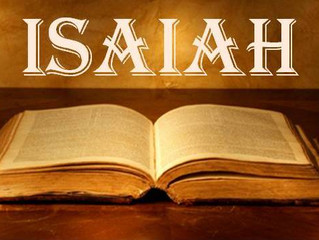 Isaiah Course: Advance notice!