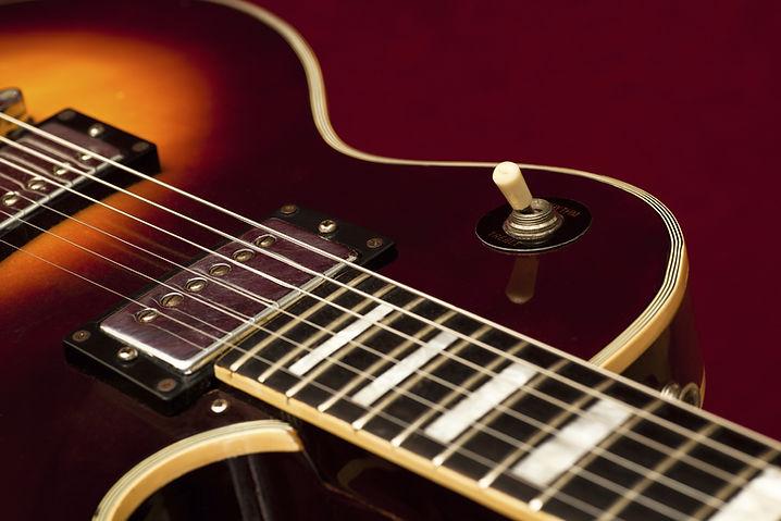 Guitarra eléctrica de la vendimia