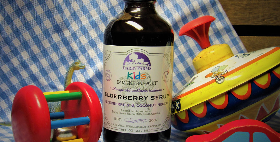 Darby Farms 8oz KIDS Elderberry Tonic -- No Raw Honey