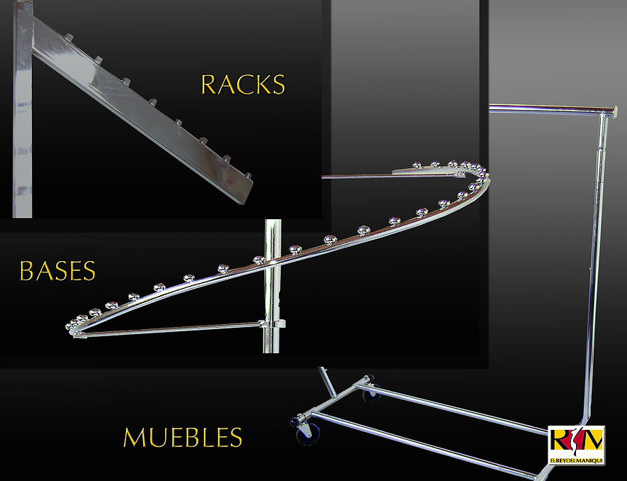 Exhibidores metálicos, kits y sistemas de exhibición.