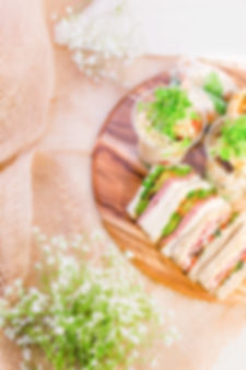 provin group, sydney catering, corporate catering, healthylunch, salad cups, sandwich triangles, rice paper rolls