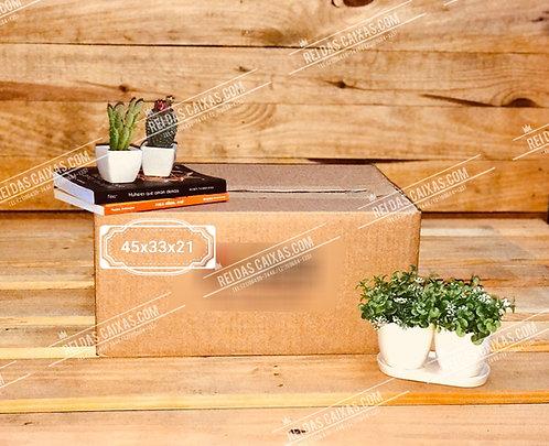 Caixa de papelão seminova pequena / parede simples 📏45compx33largx21alt