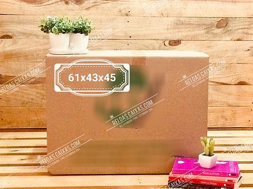 Caixa de papelão seminova grande / parede dupla 📏61compx43largx45alt
