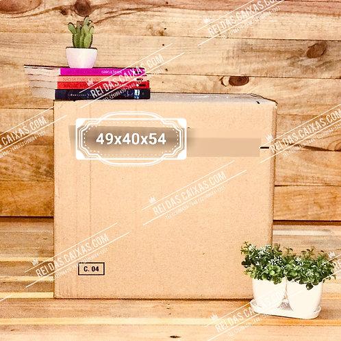 Caixa de papelão seminova grande / parede dupla 📏49compx40largx54alt