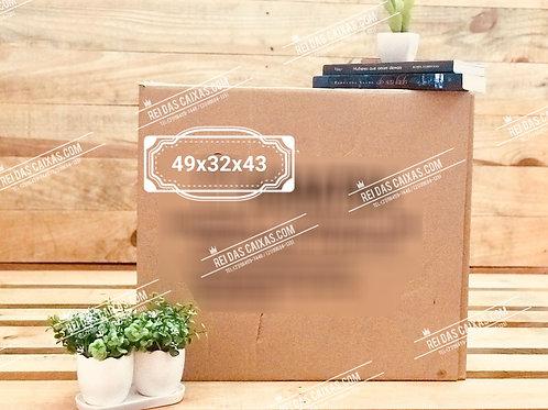 Caixa de papelão seminova grande / parede dupla 📏49compx32largx43alt