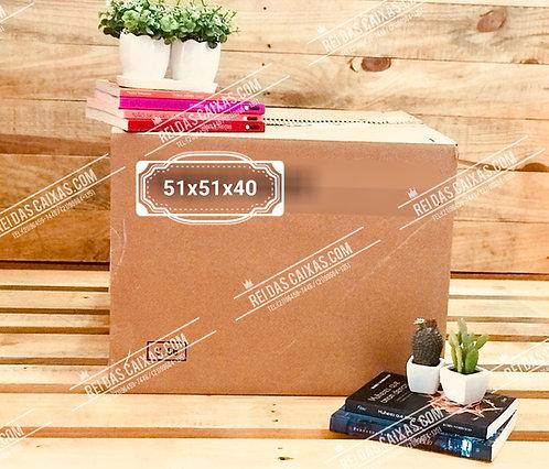 Caixa de papelão seminova grande / parede dupla 📏51compx51largx40alt