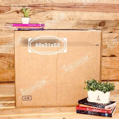 Caixa de papelão seminova grande / parede dupla 📏60compx31largx53alt