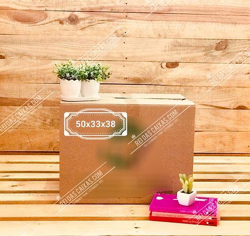 Caixa de papelão seminova média / parede dupla 📏50compx33largx38alt